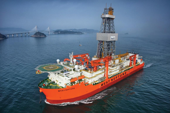 An oil drillship in the Gulf of Mexico. Photo: LLOG Exploration